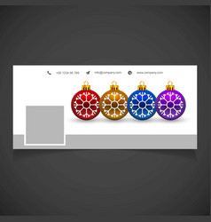 Christmas social media cover dark vector