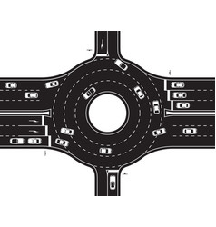 circular junction of highway and road vector image