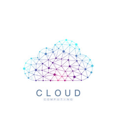 Cloud computing logo concept database storage vector
