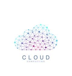 cloud computing logo concept database storage vector image