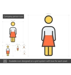 Company person line icon vector