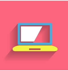 computer icon modern flat design vector image