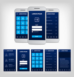 conception of blue mobile user interface vector image