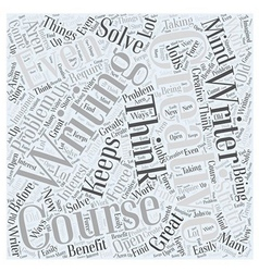 Creative writing course Word Cloud Concept vector
