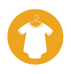 Cute baby outfit icon vector