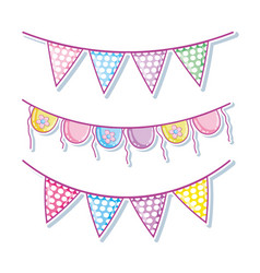cute pennants cartoons vector image