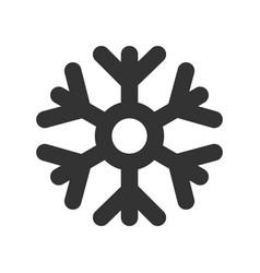 dark snowflake weather icon vector image
