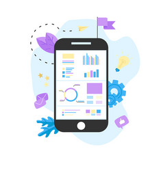 data analysis design concept vector image