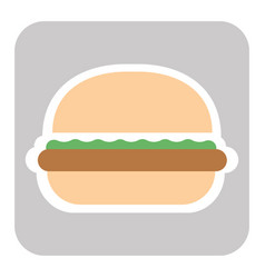 delicious american cheeseburger vector image