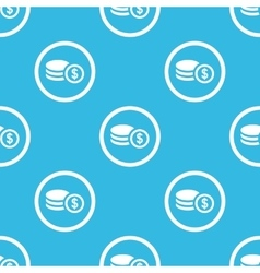 Dollar rouleau sign blue pattern vector