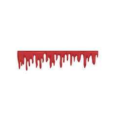 dripping blood flowing red liquid vector image