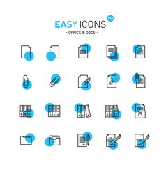 easy icons 13b docs vector image