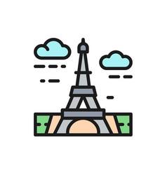 eiffel tower france landmark flat color vector image