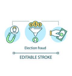 Election concept icon election fraud idea thin vector