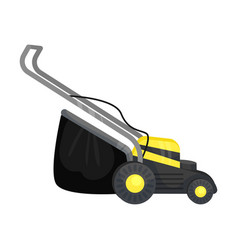 Electric lawn mower on a vector