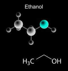 Ethanol molecule vector image