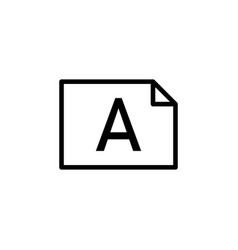 file album word a icon can be used for web logo vector image