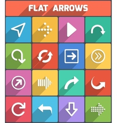 Flat arrows for web and mobile vector image