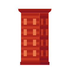 flat cartoon office center building vector image