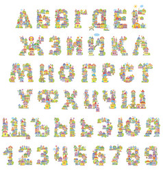 font toy town vector image