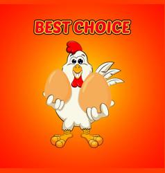 Funny cock keeps eggs vector