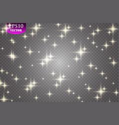 glow light effect cloud of glittering dust vector image