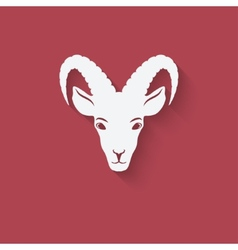 Goat head symbol vector