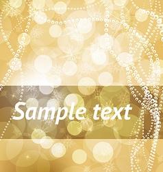 Golden Christmas Background vector