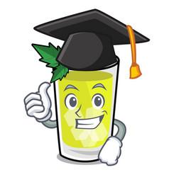 Graduation mint julep character cartoon vector