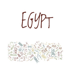Great tour to egypt and its history text vector