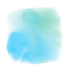 green and blue watercolor on white background vector image
