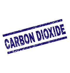 Grunge textured carbon dioxide stamp seal vector