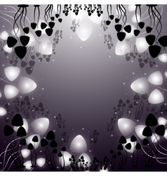 Hallucinogenic mushrooms psilocybe vector