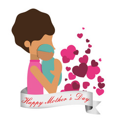happy mothers day celebration greeting vector image