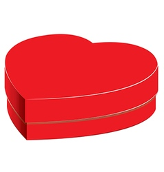 Heart box and Bright gift isolated on white vector image