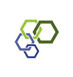 hexagon - logo concept vector image