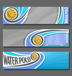 Horizontal banners for water polo vector