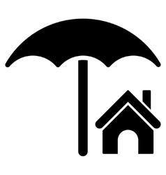 House Under Umbrella Flat Icon vector