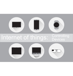 Internet of Things Control Devices Flat icons vector image