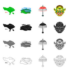 Isolated object of and travel icon collection of vector