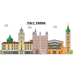 Italy parma city skyline architecture vector