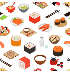 Japanese food concept seamless pattern background vector