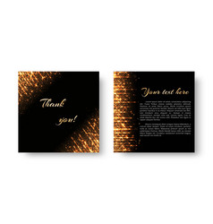 leaflet with flashes of golden light vector image