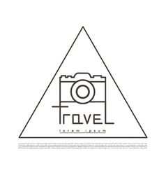 Linear Logo for tourism companies and agencies vector image
