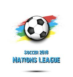 Logo soccer tournament 2018 vector