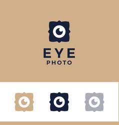 modern professional logo photos eyes on gold vector image
