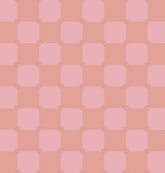 Neutral pink colors pattern with tiny hearts vector