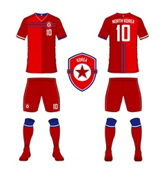 North Korea soccer kit football jersey template vector