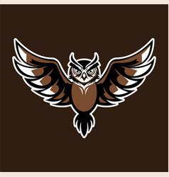 Owl logo mascot bagde sport esport vector