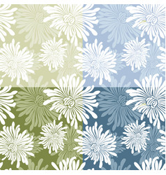 pattern of the chrysanthemums vector image
